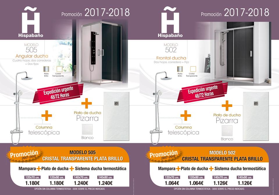 Promoción mampara + Plato de ducha + Columna telescópica - Hispabaño, fabricantes de mamparas de ducha y baño