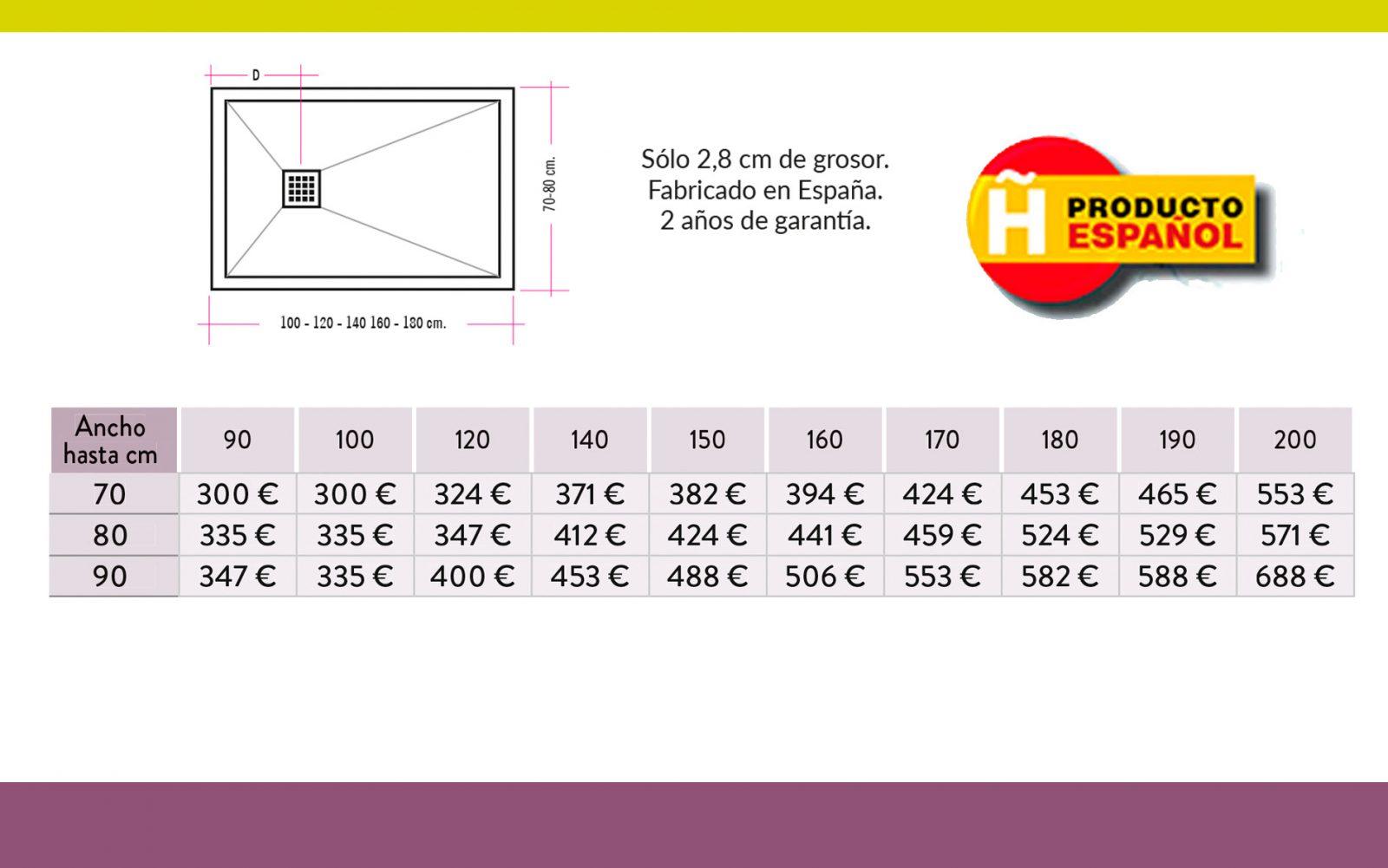 Platos de Ducha Textura Pizarra - Hispabaño, fabricantes de mamparas de ducha y baño
