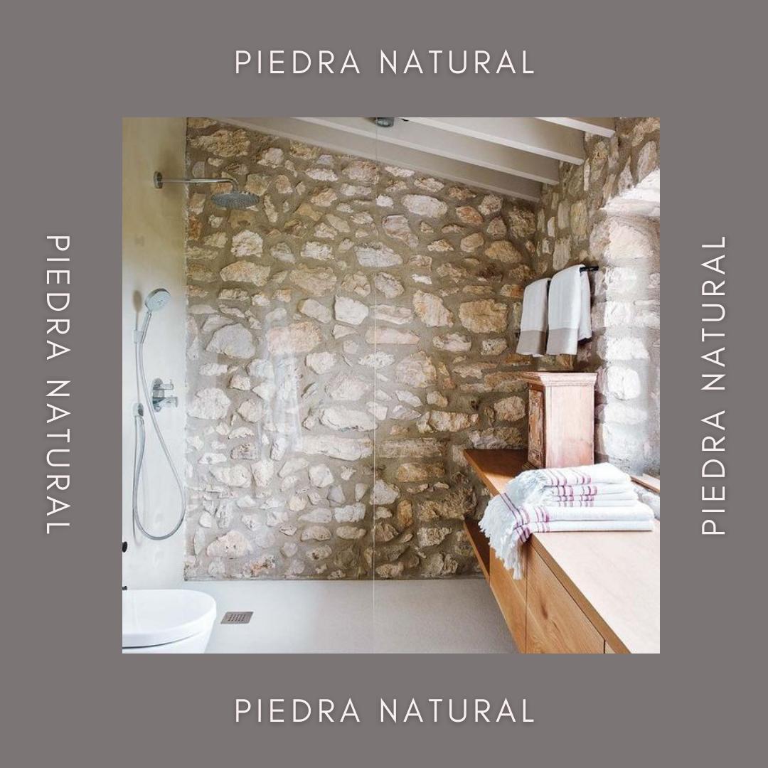 ducha con piedra natural